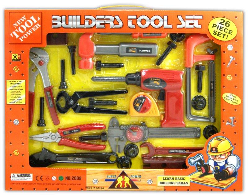 Иллюстрация 1 из 6 для Набор инструментов, 26 предметов (2008) | Лабиринт - игрушки. Источник: Лабиринт