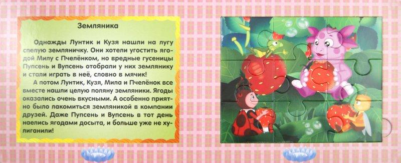 Иллюстрация 1 из 9 для Книжка-мозаика: Маленькие истории. Лунтик и его друзья | Лабиринт - книги. Источник: Лабиринт