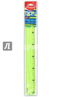 """Линейка """"Geometric"""" (30 см, тонированная, в ассортименте) (242032)"""