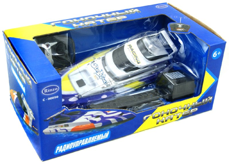 Иллюстрация 1 из 2 для Катер радиоуправляемый гоночный (С-00050) | Лабиринт - игрушки. Источник: Лабиринт