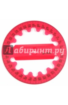 "Транспортир ""Colorful"" (360°, объемный) (160073) Silwerhof"
