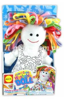 Раскрась куклу, набор (мягконабивная игрушка + фломастеры для ткани), от 3-х лет (69WD)