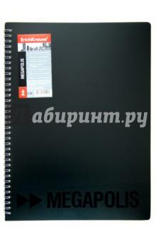 """Папка на 40 вкладышей """"Megapolis"""" на спирали, черная (223098) от Лабиринт"""