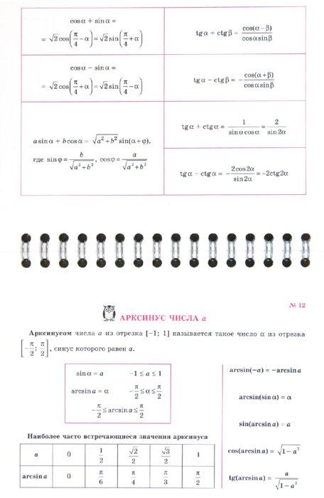 Иллюстрация 1 из 11 для Тригонометрия на ладони. Памятки и подсказки - Маркова, Подольская | Лабиринт - книги. Источник: Лабиринт