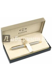"""Ручка шариковая """"Sonnet GT"""", черная, корпус из нержавеющей стали (140332)"""