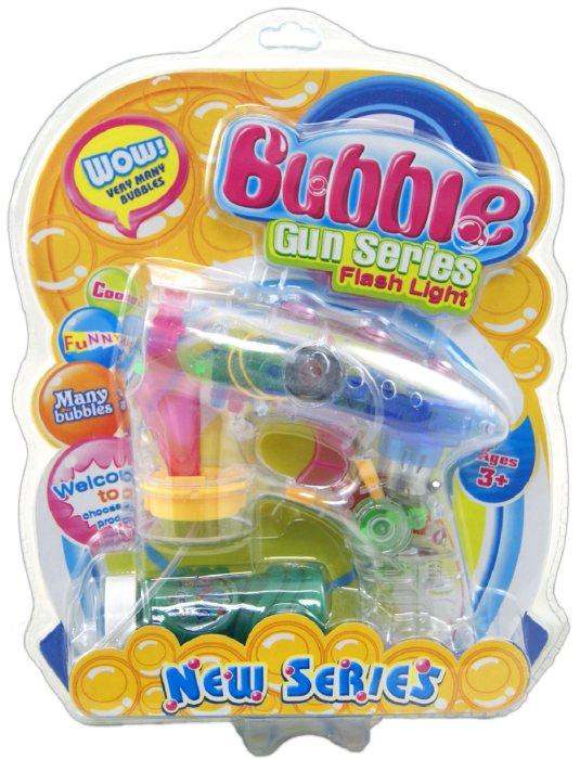 """Иллюстрация 1 из 11 для Набор для пускания мыльных пузырей """"Bubble. Gun Series. Flash Light"""" (11278В)   Лабиринт - игрушки. Источник: Лабиринт"""