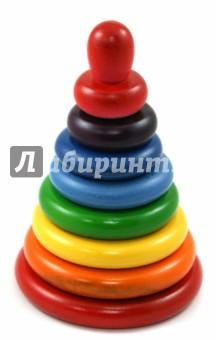 Пирамидка Радуга (8 деталей) (Д-512) краснокамская игрушка пирамидка радуга