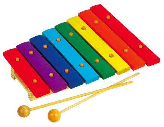 Иллюстрация 1 из 3 для Ксилофон деревянный окрашенный (8 тонов) (Д-487) | Лабиринт - игрушки. Источник: Лабиринт