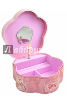 Шкатулка музыкальная Сидящая балерина (58000) музыкальная шкатулка jakos балерина цвет бежевый розовый