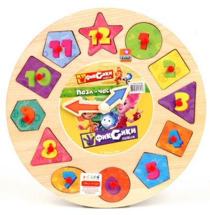 """Иллюстрация 1 из 10 для Пазл-часы """"Фиксики"""", дерево (GT5659)   Лабиринт - игрушки. Источник: Лабиринт"""