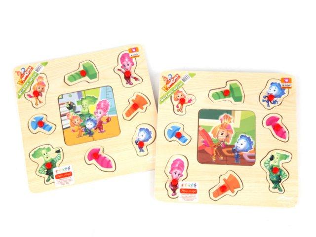 Иллюстрация 1 из 3 для Пазл GT5662 Фиксики 22,5*22,5см, дерево | Лабиринт - игрушки. Источник: Лабиринт
