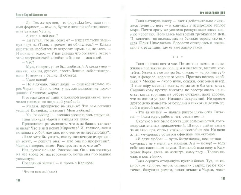 Иллюстрация 1 из 8 для Три последних дня - Литвинова, Литвинов | Лабиринт - книги. Источник: Лабиринт