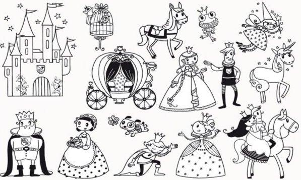 Иллюстрация 1 из 3 для Придумай историю – Про принцесс (85055)   Лабиринт - игрушки. Источник: Лабиринт