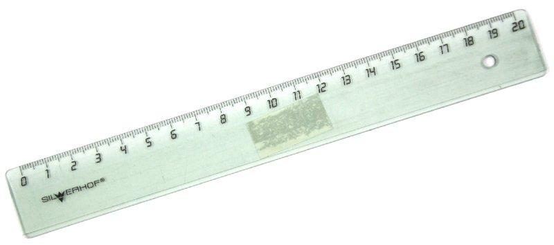 Иллюстрация 1 из 2 для Линейка 20 см, дымчатая (160110) | Лабиринт - канцтовы. Источник: Лабиринт