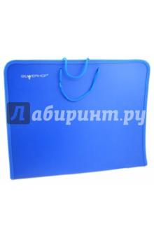 Папка для бумаг А3 с ручками, синяя (255002-02)