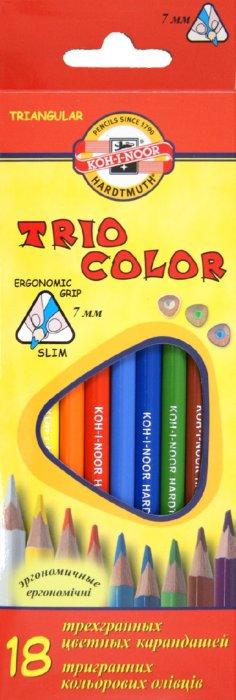 Иллюстрация 1 из 4 для Карандаши цветные, 18 цветов. Трехгранные (3133) | Лабиринт - канцтовы. Источник: Лабиринт