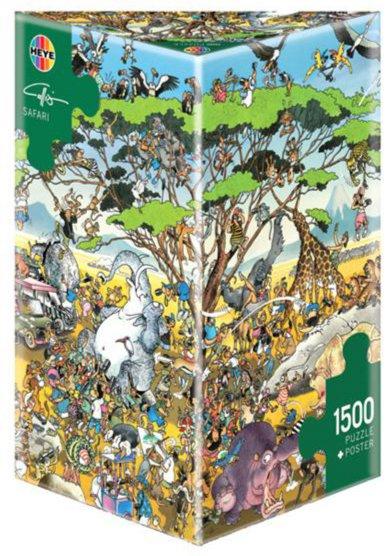 "Иллюстрация 1 из 2 для Puzzle-1500 ""Сафари, Calligaro"" (29494) | Лабиринт - игрушки. Источник: Лабиринт"