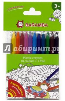 Карандаши пластиковые 12 цветов, в блистере (B96210) Jovi