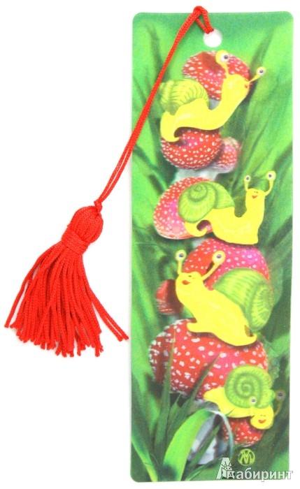 """Иллюстрация 1 из 2 для 3D Закладка """"Улитки"""" (BkH023)   Лабиринт - канцтовы. Источник: Лабиринт"""