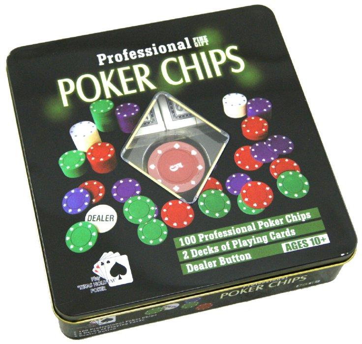 Иллюстрация 1 из 2 для Набор для игры в покер 100 фишек (24920) | Лабиринт - игрушки. Источник: Лабиринт