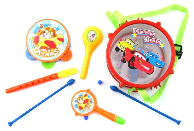 Иллюстрация 1 из 3 для Музыкальный игровой набор с барабаном (3005В) | Лабиринт - игрушки. Источник: Лабиринт