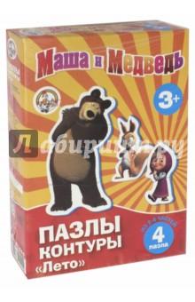 """Маша и Медведь. Пазл-контур """"Лето"""" (01444) от Лабиринт"""