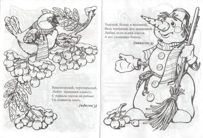 Иллюстрация 1 из 5 для Раскраска (птицы и снеговик)   Лабиринт - книги. Источник: Лабиринт