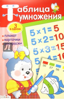 Таблица умножения: плакат, карточки, раскраски