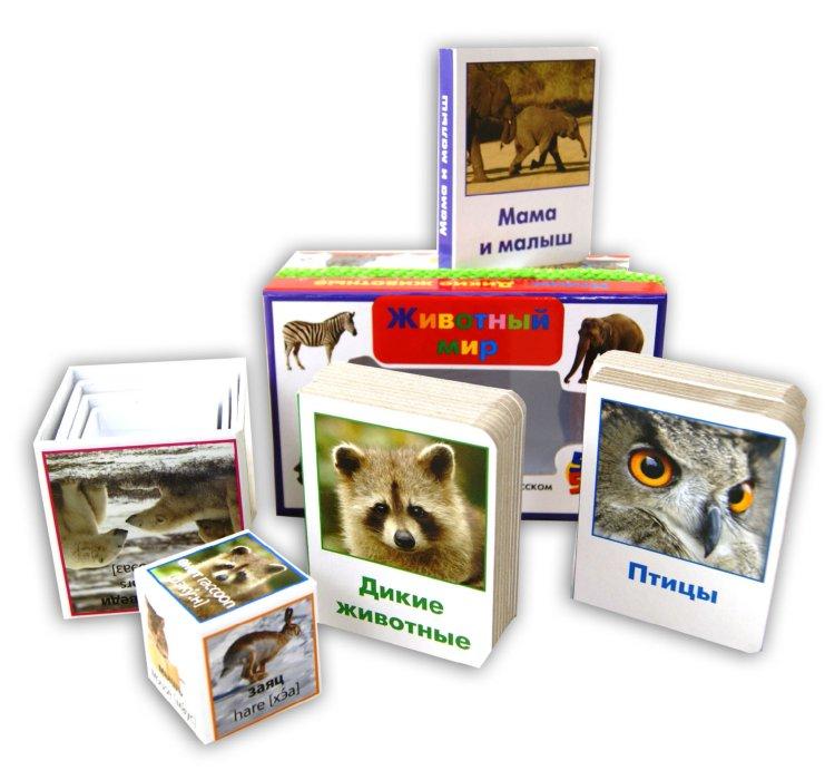 Иллюстрация 1 из 10 для Животный мир: пять книжек-картонок и пять вкладывающихся друг в друга картонных кубиков | Лабиринт - книги. Источник: Лабиринт