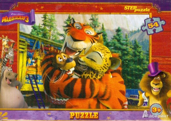 """Иллюстрация 1 из 2 для Step Puzzle-54 """"Мадагаскар-3"""" (71109)   Лабиринт - игрушки. Источник: Лабиринт"""