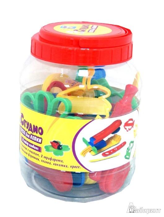 """Иллюстрация 1 из 6 для Тесто для лепки """"Студио"""" 6 цветов, с аксессуарами (Т54855)   Лабиринт - игрушки. Источник: Лабиринт"""