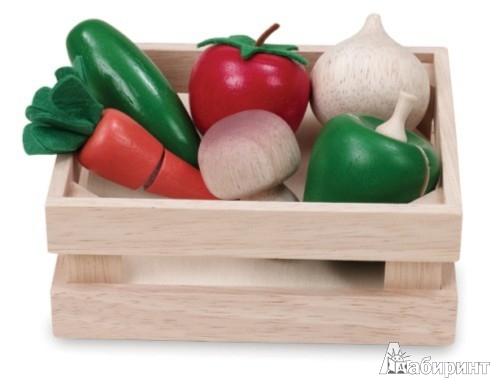 Иллюстрация 1 из 3 для Набор из 6 овощей в корзинке (ВВ-4513) | Лабиринт - игрушки. Источник: Лабиринт