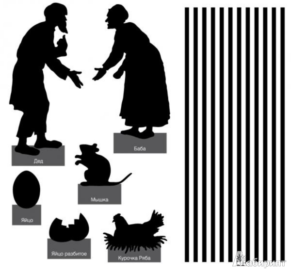 Иллюстрация 1 из 39 для Настольный театр теней. Курочка Ряба. Красная Шапочка | Лабиринт - книги. Источник: Лабиринт