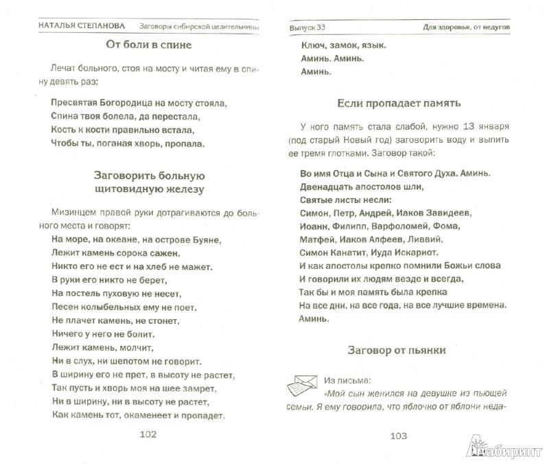 Иллюстрация 1 из 10 для Заговоры сибирской целительницы. Выпуск 33 - Наталья Степанова | Лабиринт - книги. Источник: Лабиринт