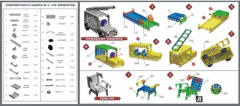 Иллюстрация 1 из 2 для Конструктор металлический для уроков труда №9, 158 элементов (00829) | Лабиринт - игрушки. Источник: Лабиринт