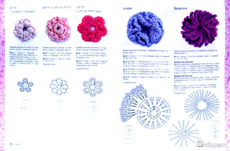 Иллюстрация 1 из 26 для 200 цветов, мотивов и бордюров для вязания крючком - Клэр Кромптон | Лабиринт - книги. Источник: Лабиринт