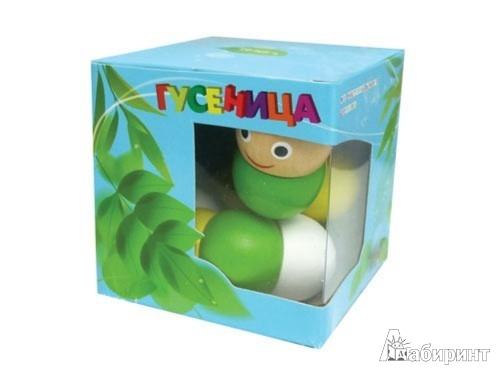 Иллюстрация 1 из 2 для Гусеница деревянная (2085) | Лабиринт - игрушки. Источник: Лабиринт