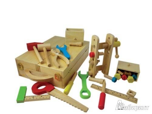 """Иллюстрация 1 из 7 для Набор инструментов деревянный """"Мамин помощник"""" (6002)   Лабиринт - игрушки. Источник: Лабиринт"""