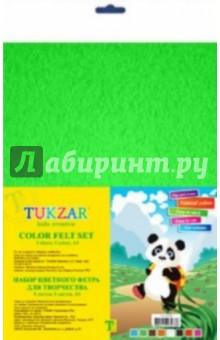 Набор цветного фетра 8 листов, 8 цветов, А4 (TZ 10106) tukzar набор фоамирана пластичной замши а4 10 цветов