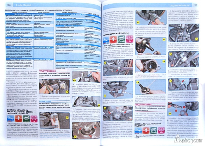 Иллюстрация 1 из 2 для ВАЗ Lada  Kalinа + каталог деталей: Руководство по эксплуатации, техническому обслуживанию и ремонту | Лабиринт - книги. Источник: Лабиринт