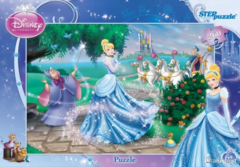 """Иллюстрация 1 из 3 для Step Puzzle-260 DISNEY """"Золушка (new)"""" (95020)   Лабиринт - игрушки. Источник: Лабиринт"""