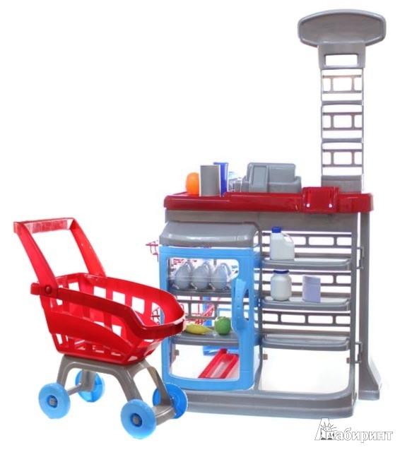 Иллюстрация 1 из 3 для Супермаркет с Тележкой, 17 предметов (1680251.00)   Лабиринт - игрушки. Источник: Лабиринт