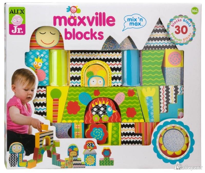 """Иллюстрация 1 из 2 для Развивающий деревянный набор """"Максвиль"""" 30 деталей (1980)   Лабиринт - игрушки. Источник: Лабиринт"""