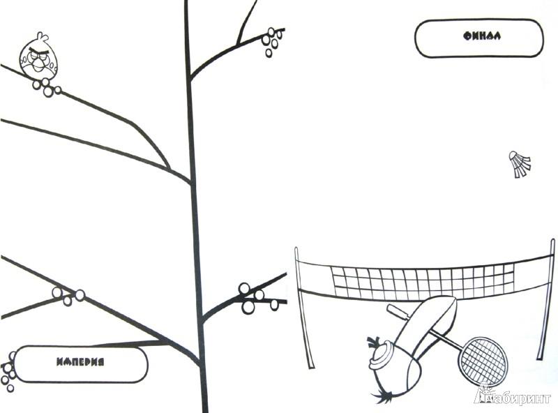 Иллюстрация 1 из 6 для Angry birds. Большая зеленая книга креативных раскрасок   Лабиринт - книги. Источник: Лабиринт