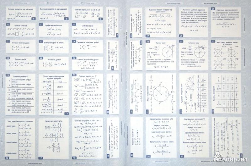 Иллюстрация 1 из 5 для Алгебра. 10-11 классы. 150 наклеек | Лабиринт - книги. Источник: Лабиринт