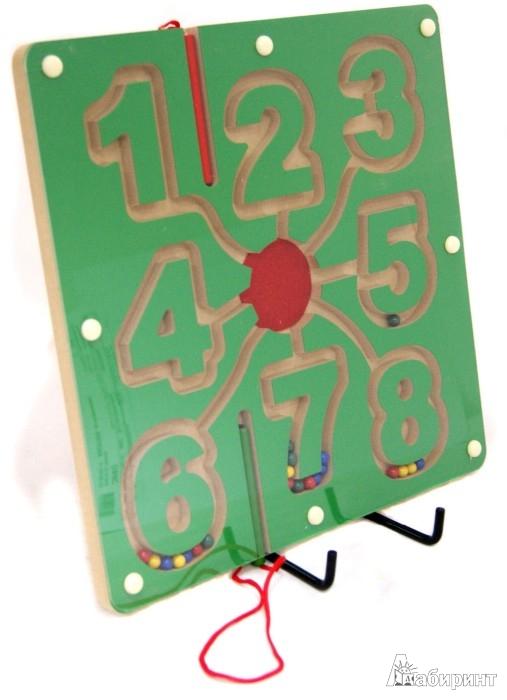 Иллюстрация 1 из 2 для Магнитный лабиринт «Цифры» (TZ 10353) | Лабиринт - игрушки. Источник: Лабиринт