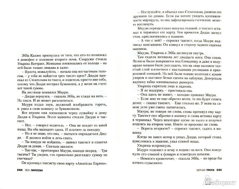 Иллюстрация 1 из 15 для Черная тропа - Оса Ларссон | Лабиринт - книги. Источник: Лабиринт