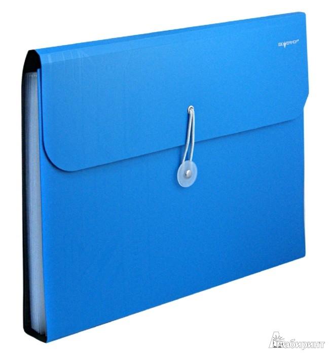 Иллюстрация 1 из 3 для Папка-портфель на резинке. DISCOVERY. Цвет: бирюзовый (255035-08) | Лабиринт - канцтовы. Источник: Лабиринт