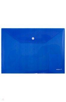 Папка-конверт с кнопкой, А4, синяя (CH309TW-04)