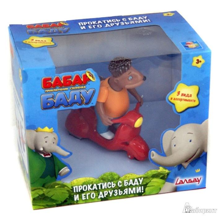 Иллюстрация 1 из 7 для Бабар и приключения слоненка Баду. Мопед с дикобразом Манро (Т55815) | Лабиринт - игрушки. Источник: Лабиринт